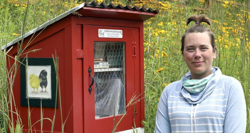 آشیانهی پرندهای که کتابخانهی رایگان شد/ نوآوری خلاقانهی یک دختر امریکایی