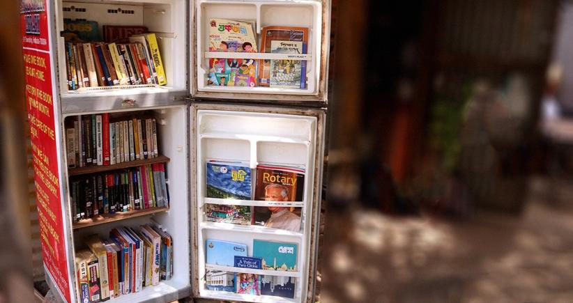 یخچال ازکارافتادهای که تبدیل به یک کتابخانهی باارزش شد
