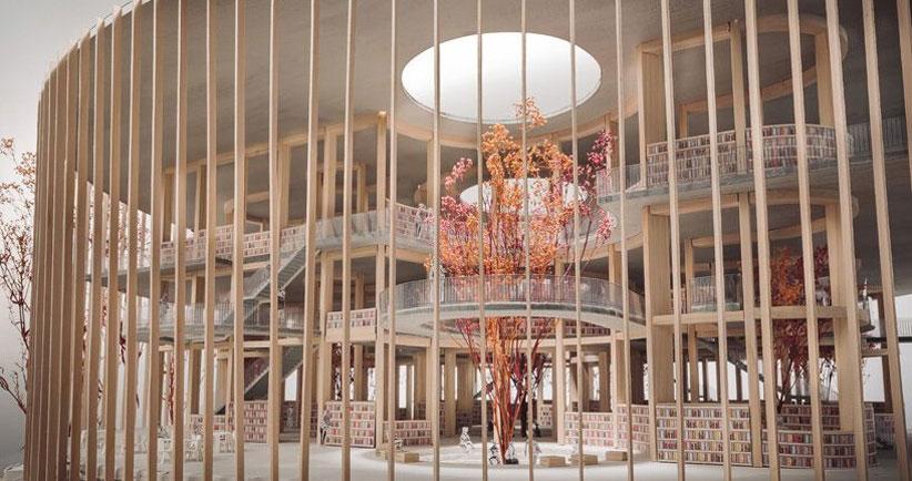 نگاهی به کتابخانهای منحصربهفرد در کرهجنوبی با معماری اقتباسشده از مغز انسان