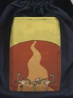 کوله کتاب پارچه ای (پسری که دور دنیا را رکاب زد)،(3رنگ،3جلدی)