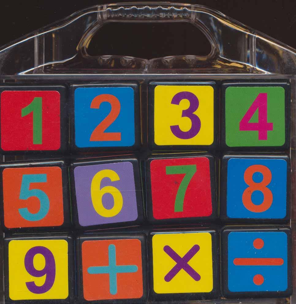 مکعب های رنگین کمان (اعداد انگلیسی)،(باجعبه)