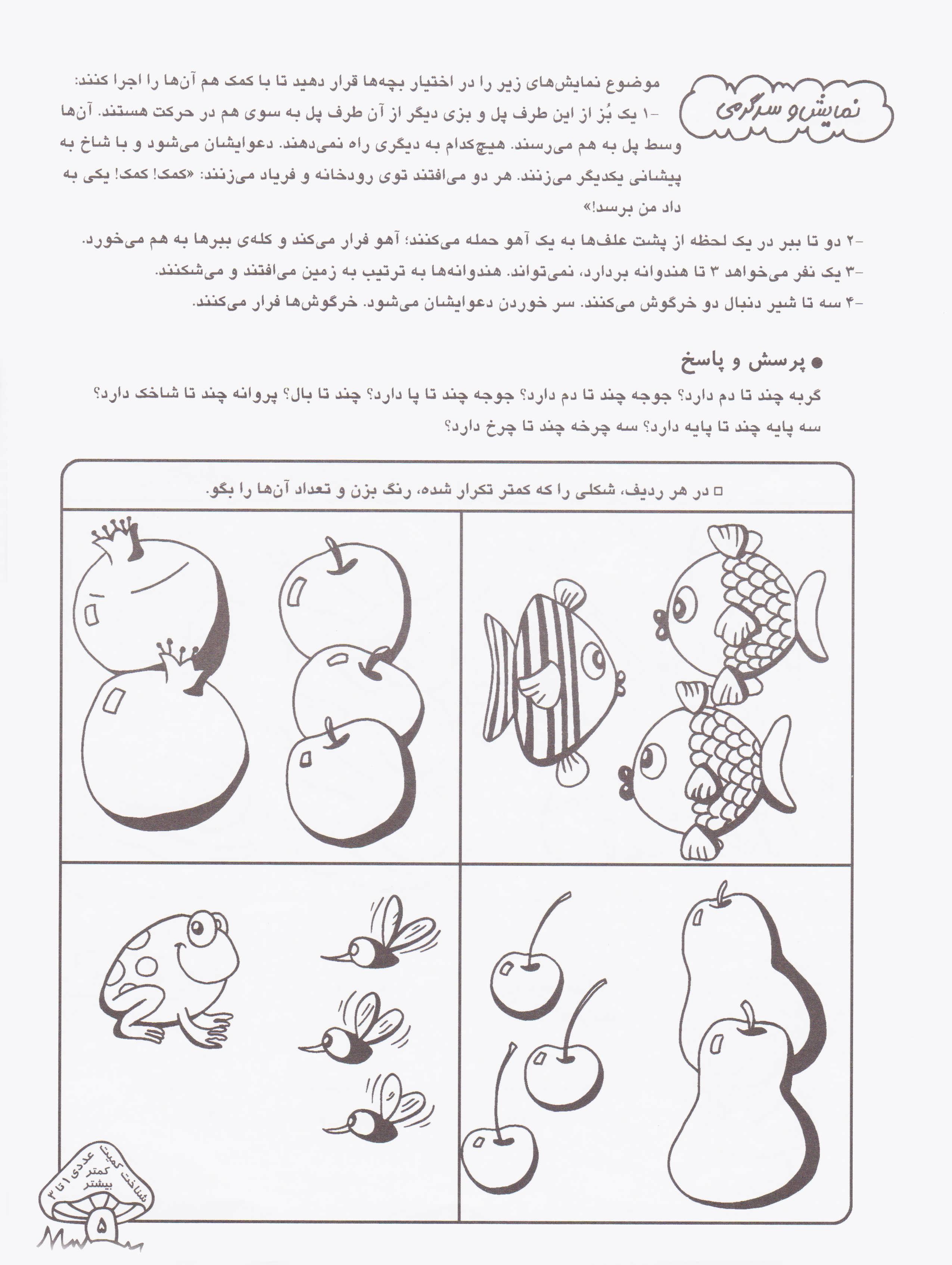کتاب های پیش از دبستان 3 (آشنایی با کمیت های عددی (آموزش مفاهیم ریاضی…))