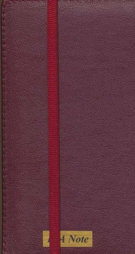 دفتر یادداشت خط دار (10رنگ،کشدار،چرم)