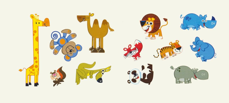 حیوانات وحشی (رنگ آمیزی به همراه برچسب 1)