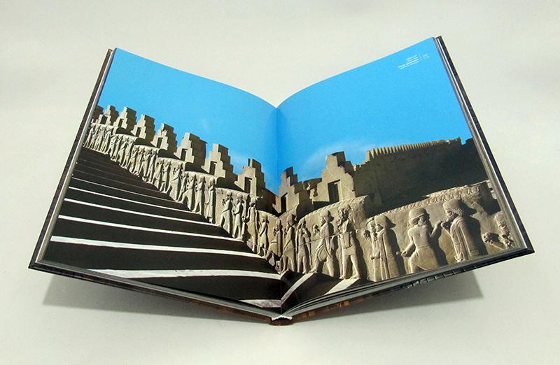 تخت جمشید یادگار هخامنشیان (2زبانه،گلاسه،باقاب)