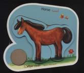 پازل چوبی (اسب)،(2 تکه)،(2زبانه)
