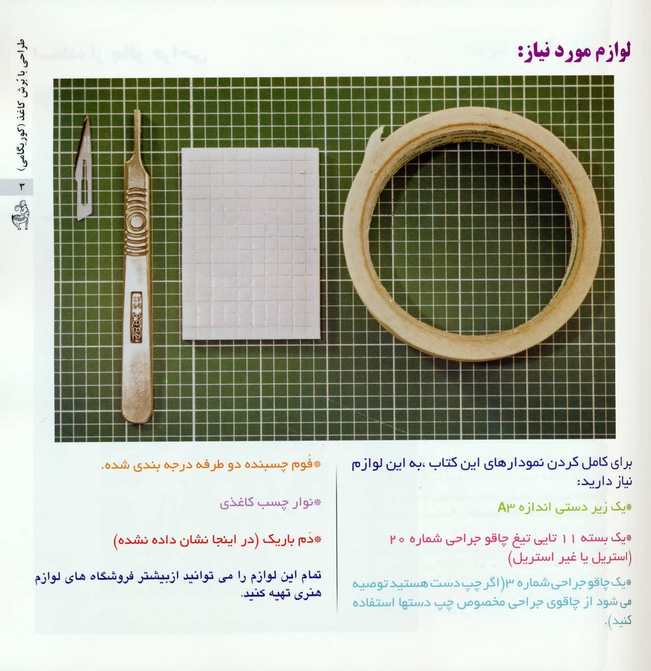 دنیای هنر (طراحی با برش کاغذ)،(کوریگامی)،(گلاسه)