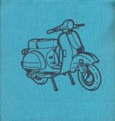 کیف پارچه ای کوچک (کد 117)،(طرح موتورسیکلت)