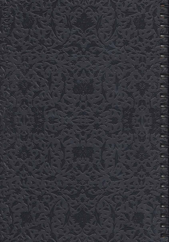 دفتر یادداشت خط دار (مشکی،طرح 5)،(سیمی)