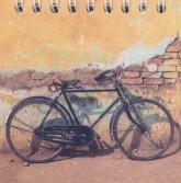 دفتر یادداشت بی خط 9*9 (طرح دوچرخه،کد 6)،(سیمی)
