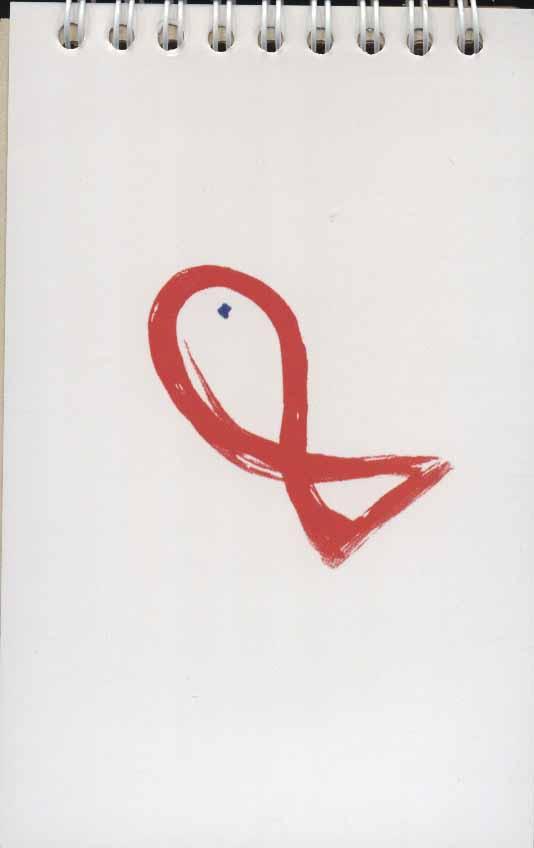 دفتر یادداشت بی خط 14*9 (طرح ماهی،کد 4)،(سیمی،کاغذ نخودی)