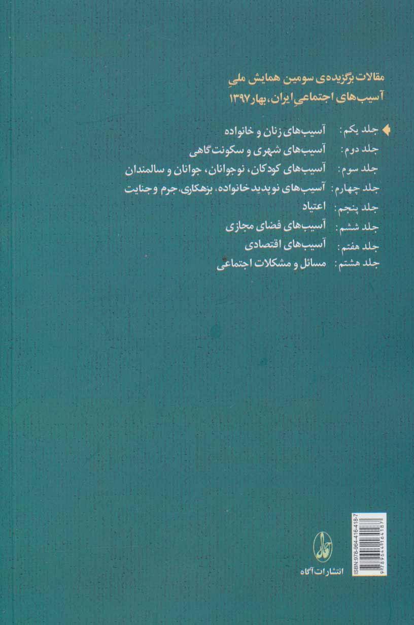 مقالات برگزیده ی سومین همایش ملی آسیب های اجتماعی ایران 1 (آسیب های زنان و خانواده)