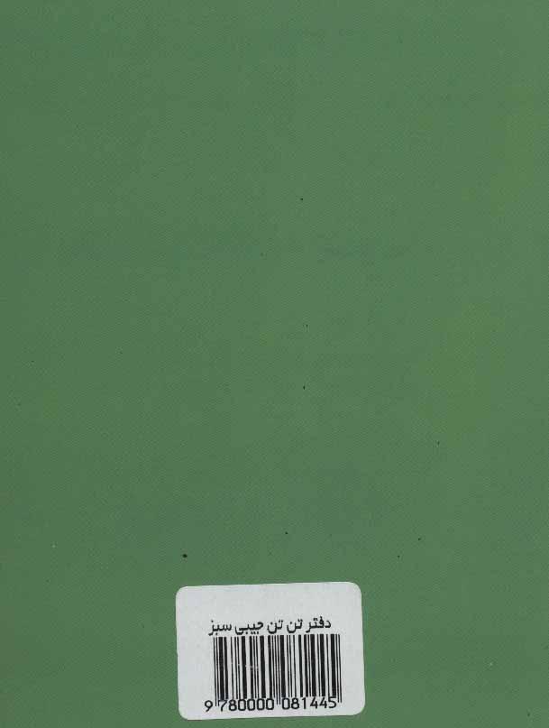 دفتر یادداشت بی خط تن تن (کوچک،سبز)