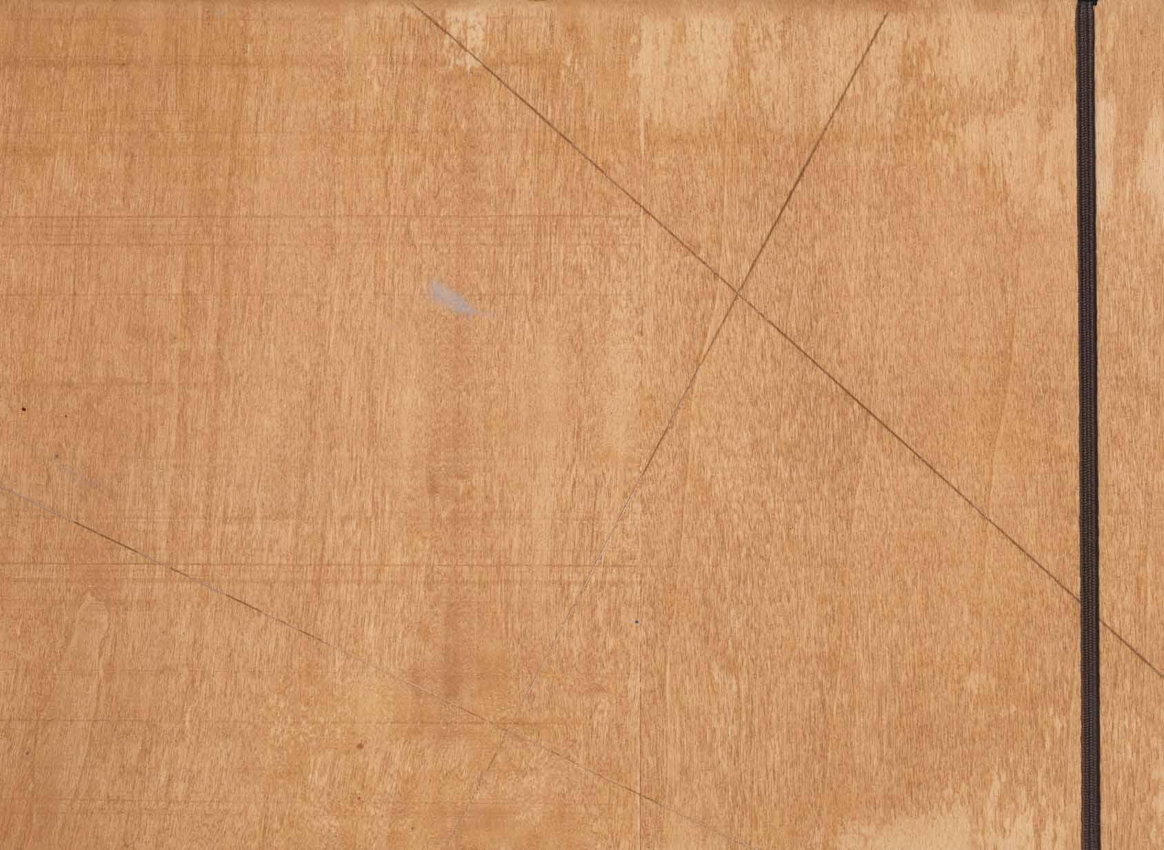 دفتر یادداشت بی خط چوبی (ماهگونی)،(کشدار)
