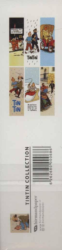 مجموعه نشانه کتاب (تن تن:TIN TIN COLLECTION)،(بوک مارک،6طرح)،(6عددی،گلاسه)