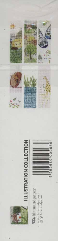 مجموعه نشانه کتاب (تصویرسازی:ILLUSTRATION COLLECTION)،(بوک مارک،6طرح)،(6عددی،گلاسه)