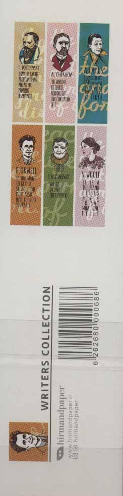 مجموعه نشانه کتاب (نویسندگان:WRITERS COLLECTION) (بوک مارک،6طرح)،(6عددی،گلاسه)