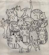 کیف پارچه ای (طرح گربه)