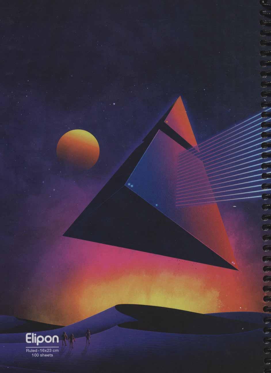 دفتر یادداشت خط دار فانتزی 100 برگ (5طرح،کد242)،(سیمی)