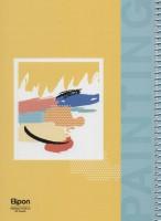 دفتر یادداشت بی خط فانتزی 60 برگ (4طرح،کد 255)،(سیمی)