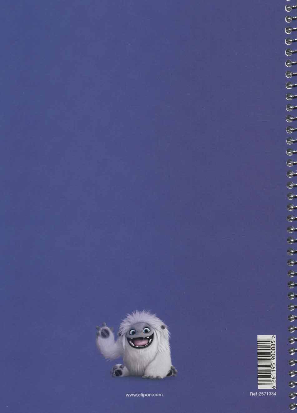 دفتر یادداشت زبان انگلیسی کارتونی (40برگ،2خط)،(2طرح،کد 257)،(سیمی)