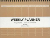 دفتر یادداشت خط دار برنامه ریزی هفتگی (کد 3139)،(سیمی)