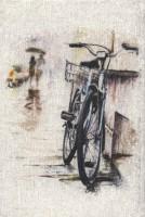 دفتر یادداشت خط دار مخملی (طرح دوچرخه،کد 315)