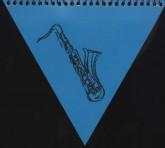 دفتر یادداشت خط دار متوسط مثلث (3طرح)،(سیمی)
