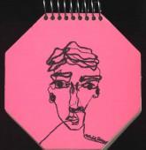 دفتر یادداشت خط دار کوچک هشت ضلعی (4طرح)،(سیمی)