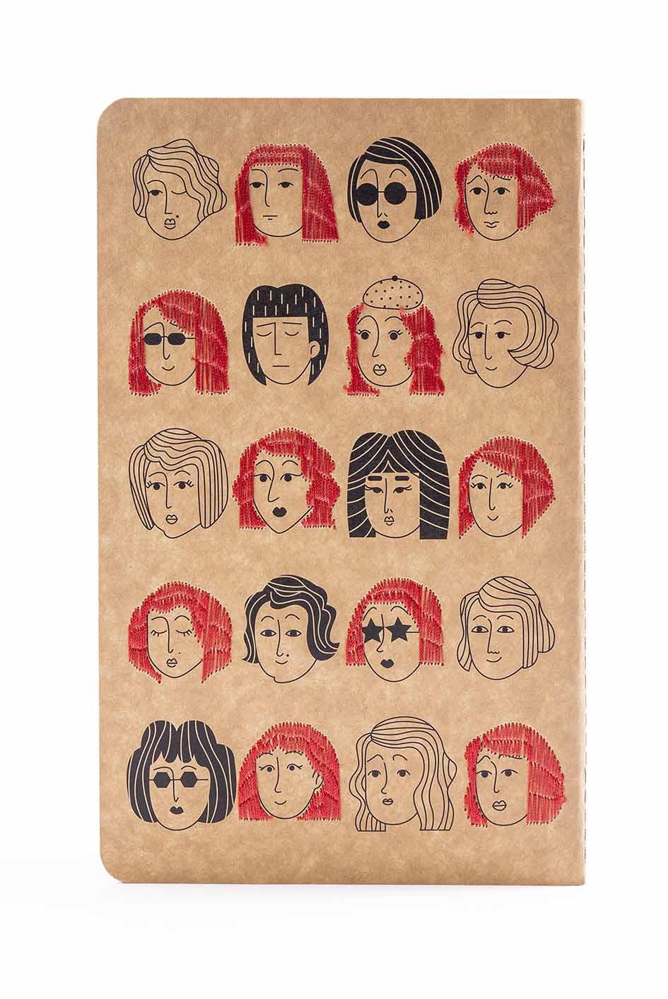 دفتر یادداشت خط دار (طرح گلدوزی،کد 3)