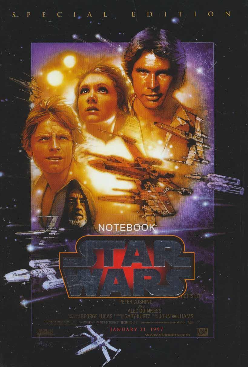 دفتر یادداشت خط دار جنگ ستارگان (STAR WARS)،(کد 982)