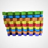 پازل فومی کفپوش تاتامی کودک 33*33 (1سانتی،چند رنگ)،(9تکه)