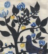 کیف پارچه ای قدیما 24*18 (طرح درخت و کبوتر)