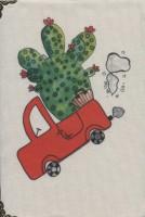 دفتر یادداشت پارچه ای نقطه ای قدیما (بولت ژورنال،طرح ماشین کاکتوسی)