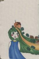 دفتر یادداشت پارچه ای نقطه ای قدیما (بولت ژورنال،طرح دختر)