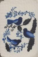دفتر یادداشت پارچه ای نقطه ای قدیما (بولت ژورنال،طرح 3 کبوتر)