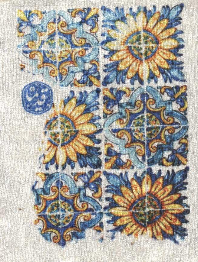 دفتر یادداشت خط دار مخملی قدیما (طرح کاشی)