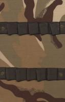 دفتر یادداشت خط دار پارچه ای جامدادی-پلنگی (قهوه ای)