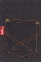 دفتر یادداشت خط دار پارچه ای جیب (مشکی)
