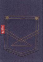 دفتر یادداشت خط دار پارچه ای جیب (آبی)