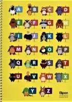 دفتر یادداشت زبان انگلیسی 60برگ (4خط،4طرح،کد 291))