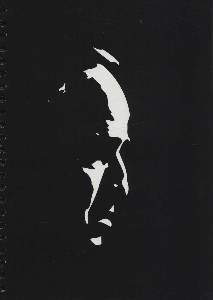 دفتر یادداشت بی خط (GOD FATHER:پدر خوانده)،(سیمی،کاغذ مشکی)