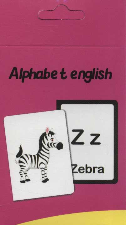 فلش کارت آموزش الفبای انگلیسی قدیما (2زبانه،گلاسه،باجعبه)