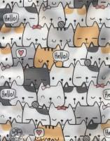 کیف پارچه ای 26*35 (طرح گربه)