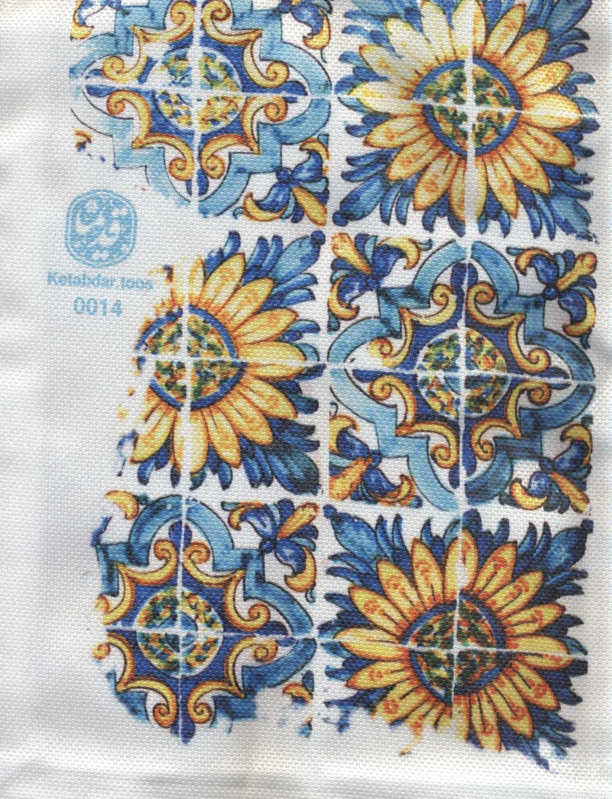 کیف پارچه ای قدیما 26*35 (طرح کاشی،کد 0014)