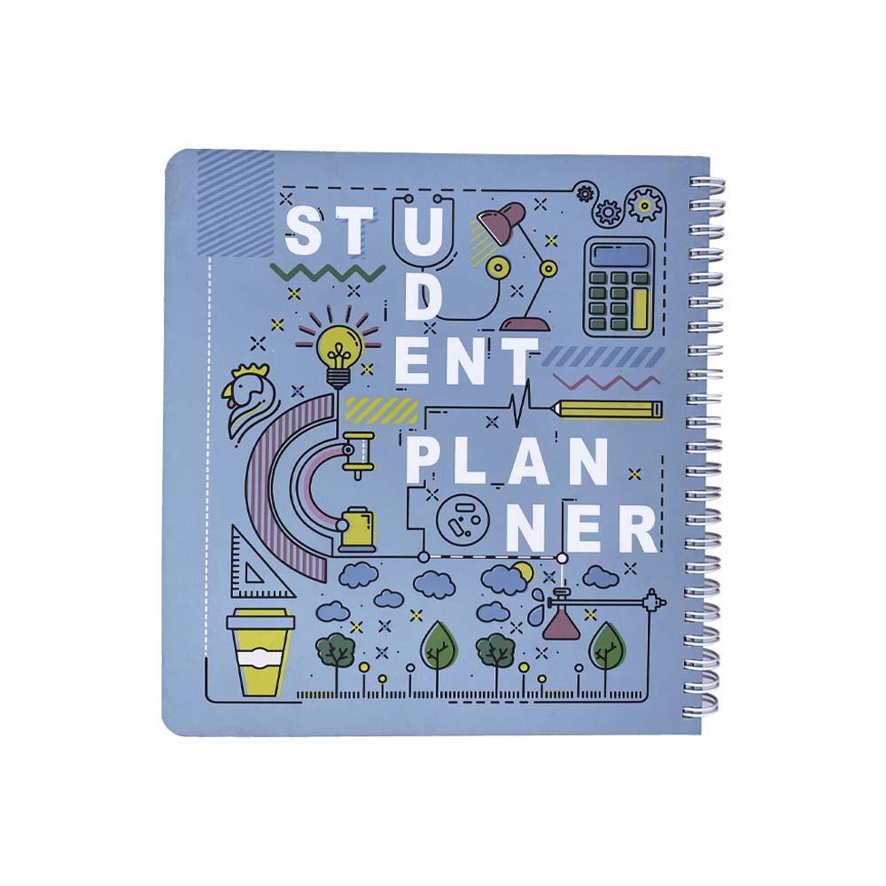 دفتر یادداشت برنامه ریزی دانش آموزی (پلنر سبزآبی،کد542)،(سیمی)