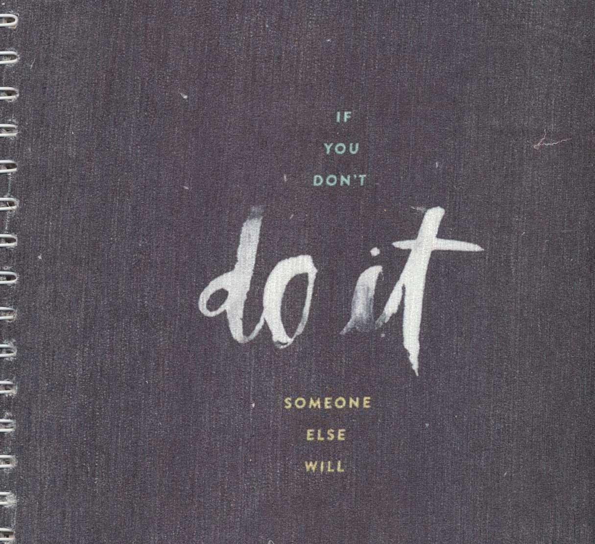 دفتر یادداشت نقطه ای مخملی قدیما (طرح DO IT)،(بولت ژورنال J 50)،(سیمی)
