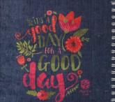 دفتر یادداشت نقطه ای مخملی قدیما (طرح DAY GOOD)،(بولت ژورنال J 40)،(سیمی)
