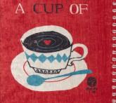 دفتر یادداشت نقطه ای مخملی قدیما (طرح A CUP OF)،(بولت ژورنال J 20)،(سیمی)