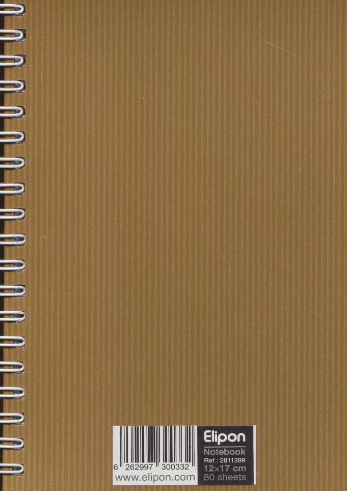 دفتر یادداشت خط دار فانتزی 80 برگ (کد 281)،(5رنگ،سیمی)
